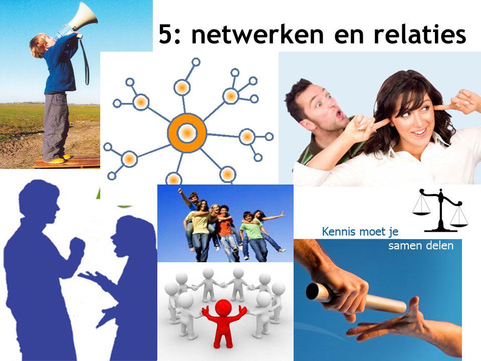 6 5: netwerken en relaties