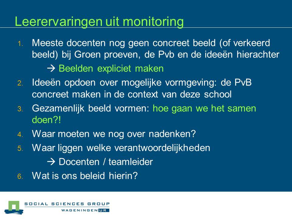 Leerervaringen uit monitoring 1.