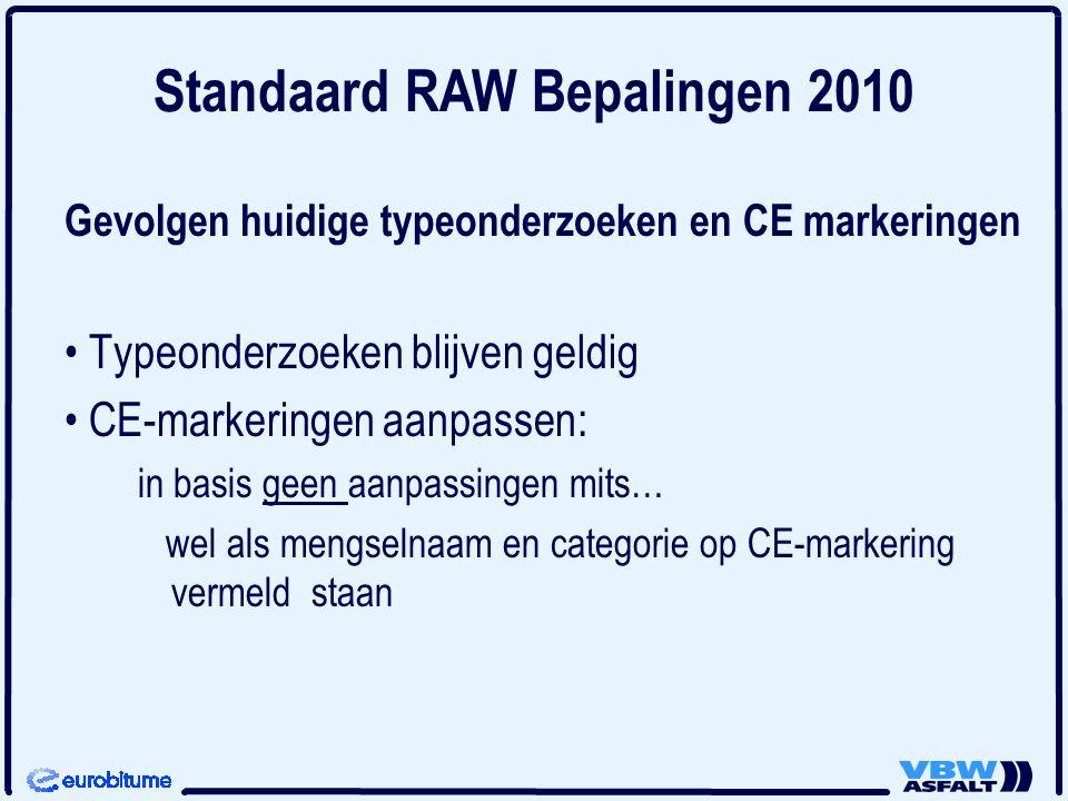 Gevolgen huidige typeonderzoeken en CE markeringen Typeonderzoeken blijven geldig CE-markeringen aanpassen: in basis geen aanpassingen mits… wel als m