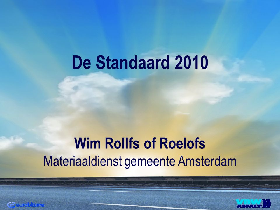 De Standaard 2010 Wim Rollfs of Roelofs Materiaaldienst gemeente Amsterdam