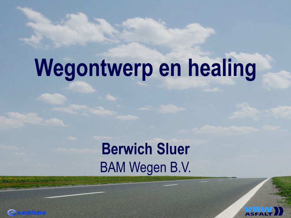 Wegontwerp en healing Berwich Sluer BAM Wegen B.V.
