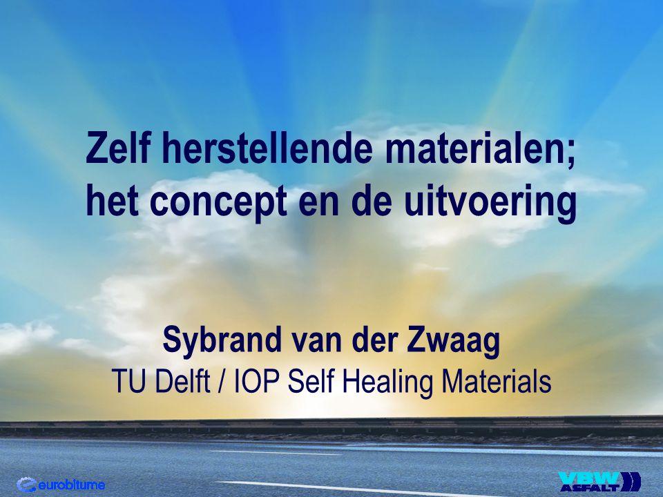 Zelf herstellende materialen; het concept en de uitvoering Sybrand van der Zwaag TU Delft / IOP Self Healing Materials