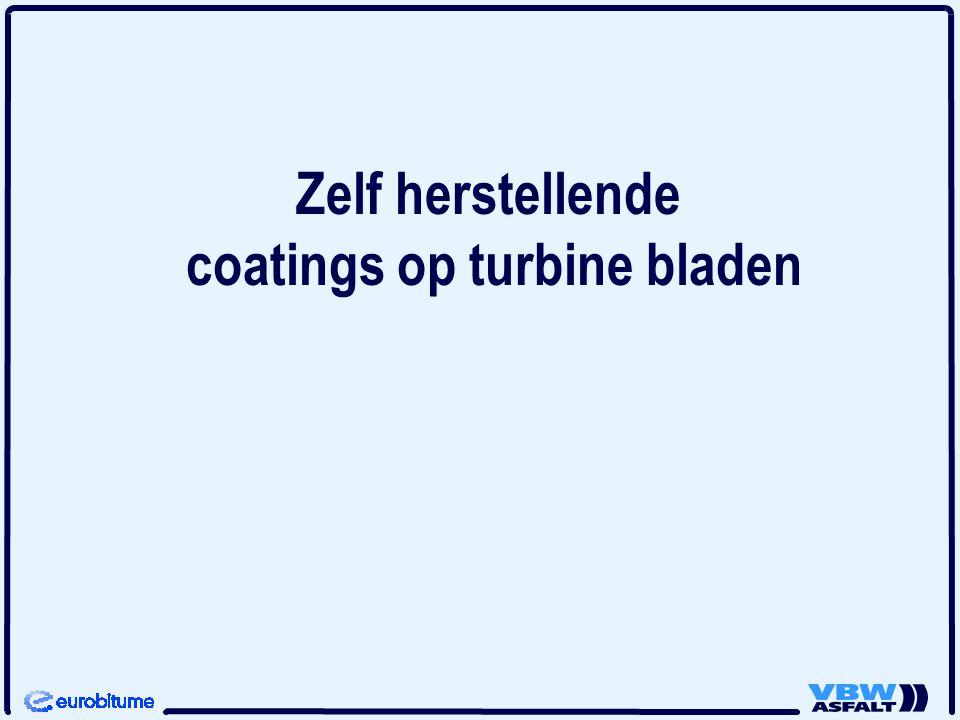 Zelf herstellende coatings op turbine bladen