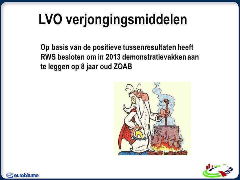Op basis van de positieve tussenresultaten heeft RWS besloten om in 2013 demonstratievakken aan te leggen op 8 jaar oud ZOAB LVO verjongingsmiddelen