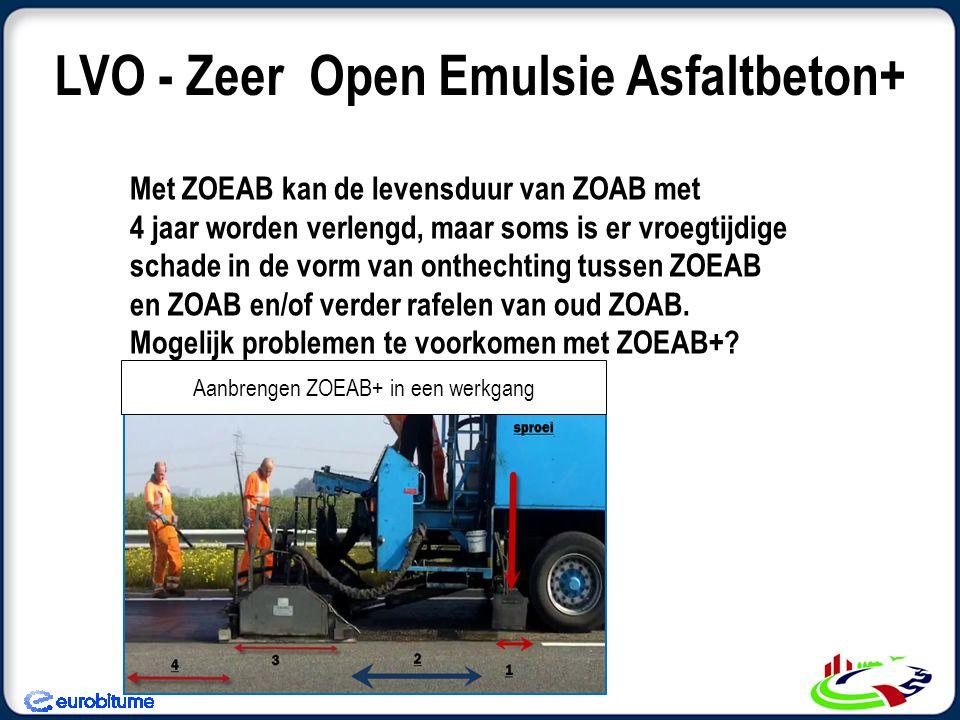 Met ZOEAB kan de levensduur van ZOAB met 4 jaar worden verlengd, maar soms is er vroegtijdige schade in de vorm van onthechting tussen ZOEAB en ZOAB en/of verder rafelen van oud ZOAB.