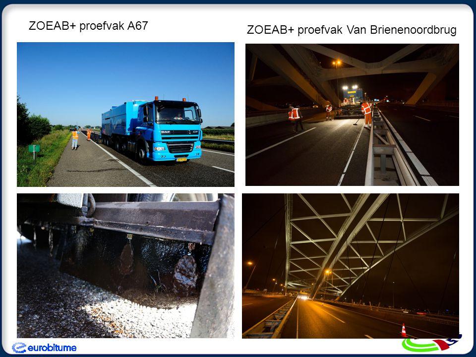 In november 1 e toepassing van Greenway LE op autosnelweg A2 nabij Best (2 km AC base) Laag Temperatuur Asfalt