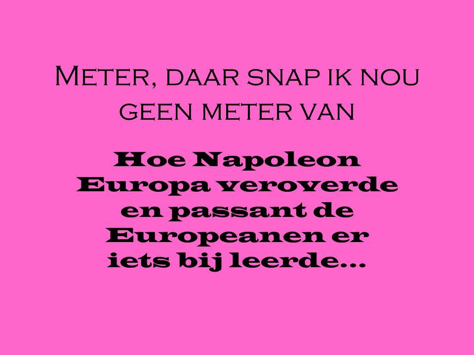 Meter, daar snap ik nou geen meter van Hoe Napoleon Europa veroverde en passant de Europeanen er iets bij leerde…