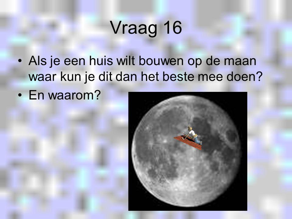 Vraag 15 Welke man zette op 20 juli 1969 voor het eerst voet op de maan?
