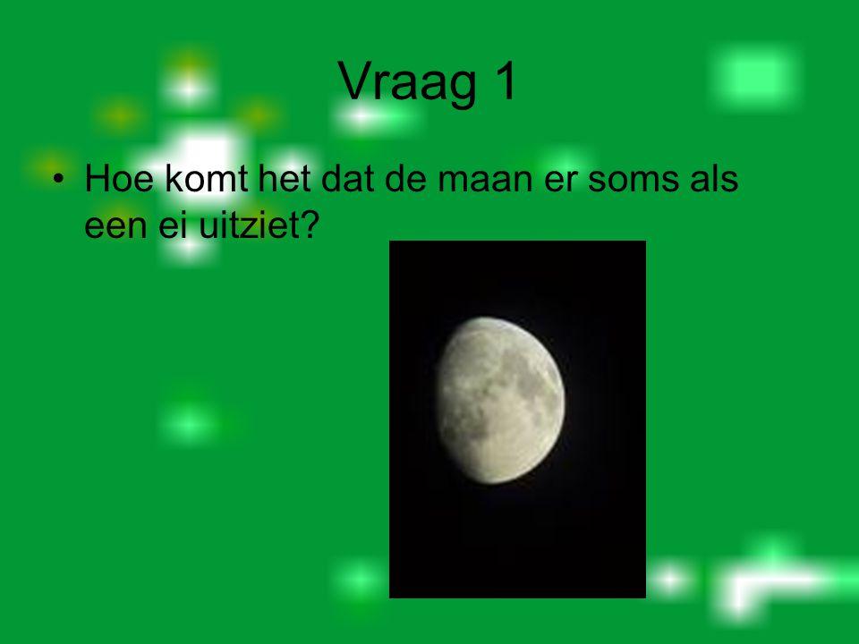 Vraag 1 Hoe komt het dat de maan er soms als een ei uitziet?