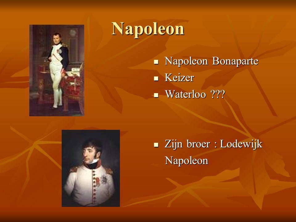 Napoleon Napoleon Bonaparte Napoleon Bonaparte Keizer Keizer Waterloo ??.