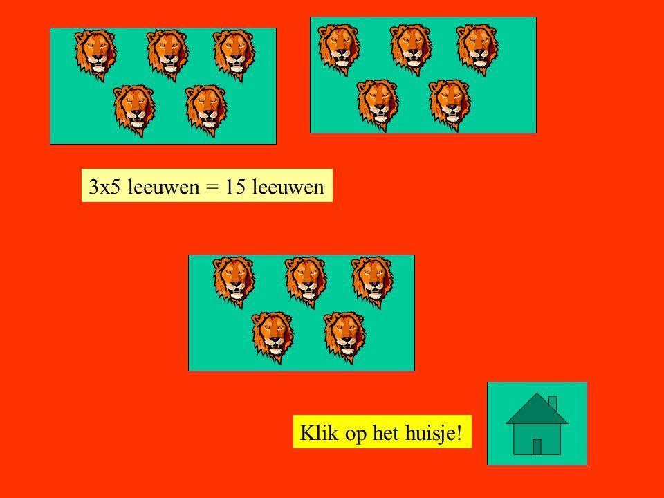 Klik op het huisje! 4x5 leeuwen = 20 leeuwen