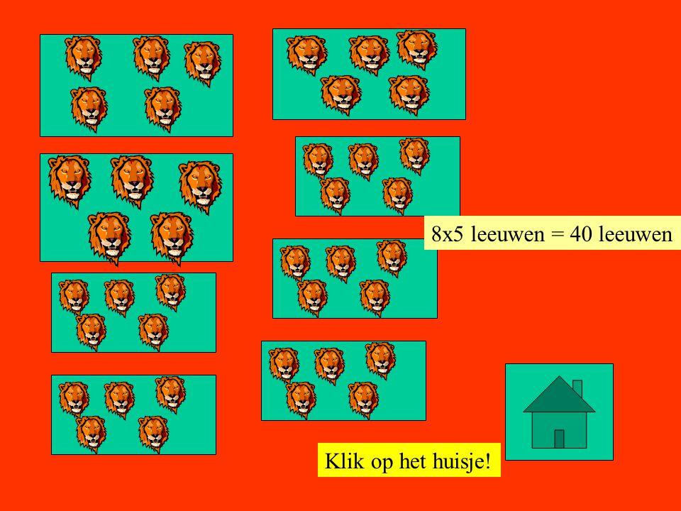 Klik op het huisje! 9x5 leeuwen = 45 leeuwen