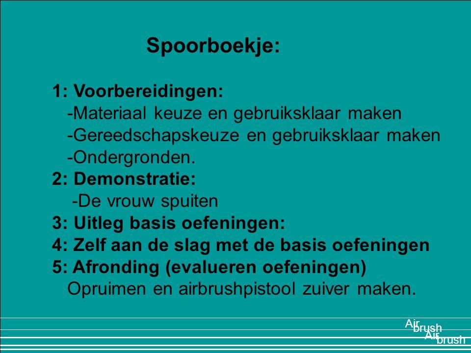 Spoorboekje: 1: Voorbereidingen: -Materiaal keuze en gebruiksklaar maken -Gereedschapskeuze en gebruiksklaar maken -Ondergronden. 2: Demonstratie: -De