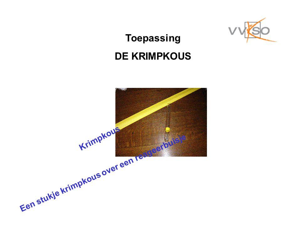 Toepassing DE KRIMPKOUS Krimpkous Een stukje krimpkous over een reageerbuisje