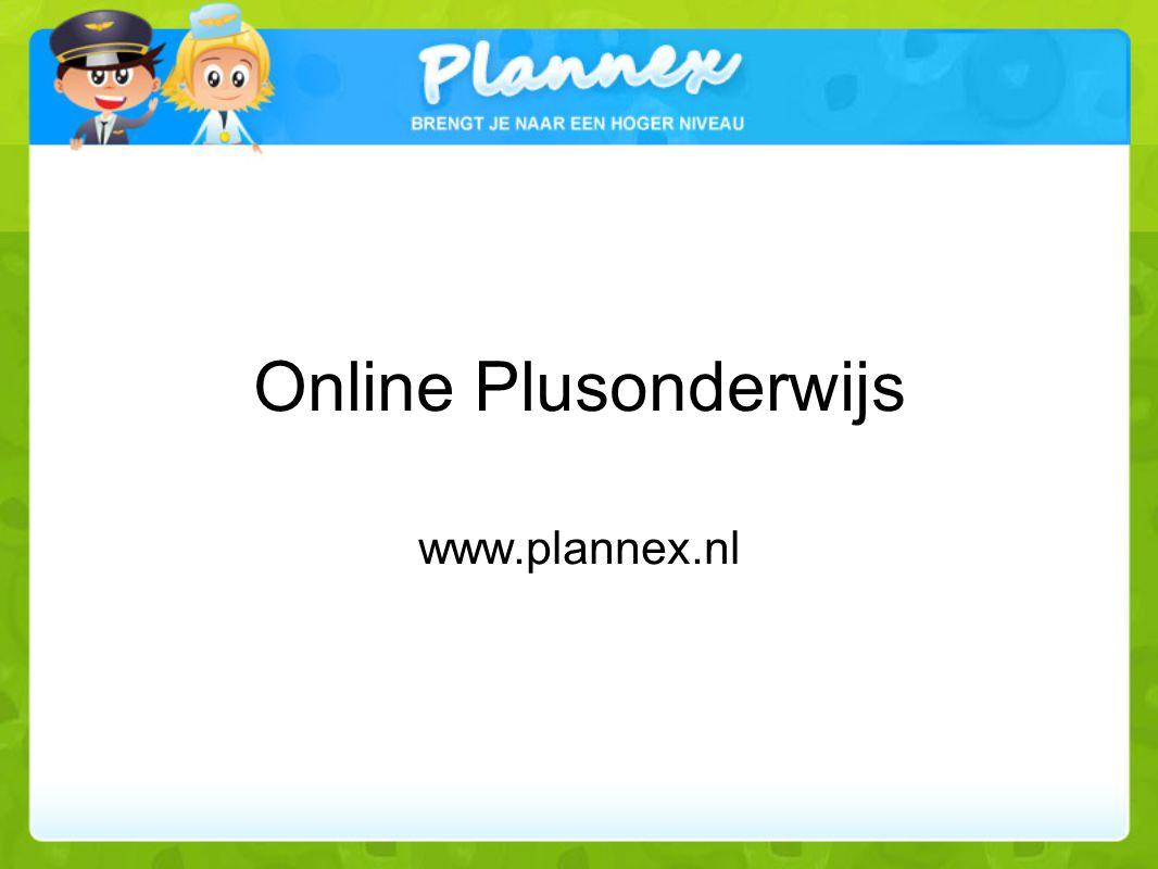 Online Plusonderwijs www.plannex.nl