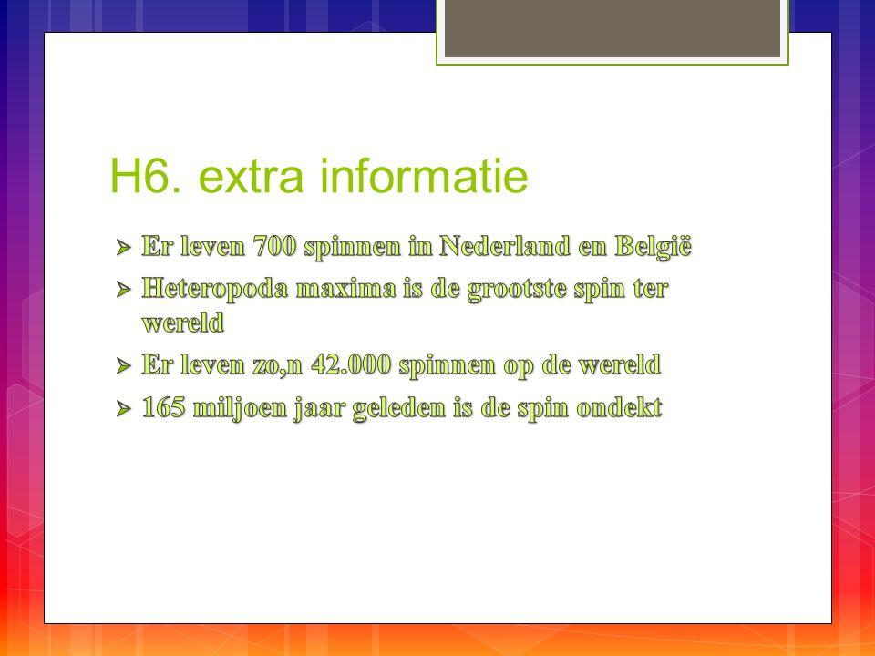 H6. extra informatie