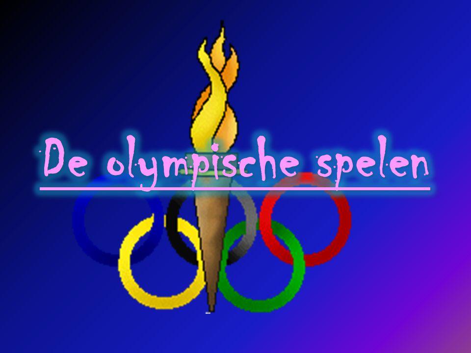 Wat waren vroeger de olympische sporten.