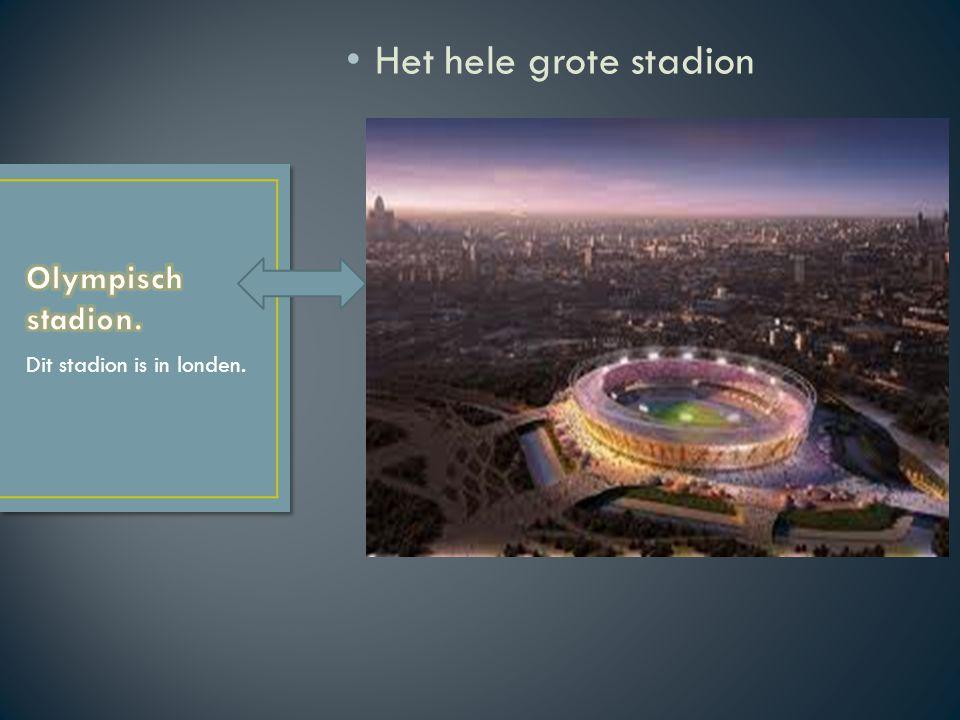 Het hele grote stadion Dit stadion is in londen.