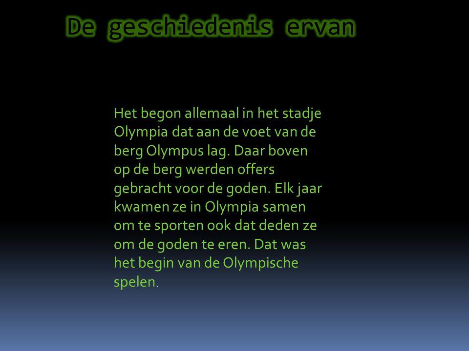 De Olympische spelen zijn sporten bij elkaar die door allerlei landen word gedaan en dan word bekeken wie de beste is op dat onderdeel. De winnaar kri
