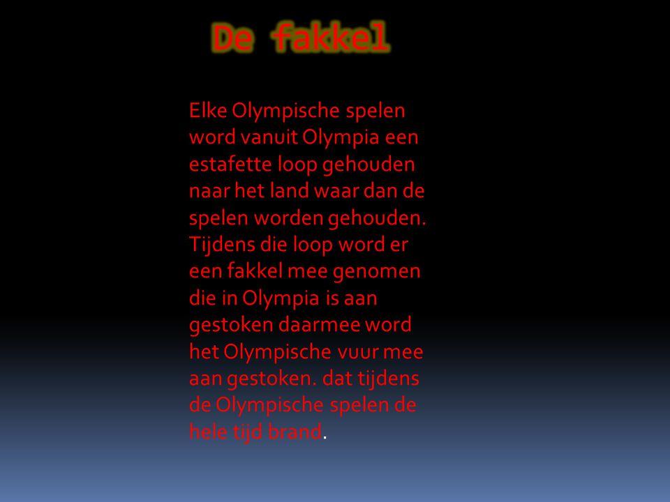 Elke Olympische spelen word vanuit Olympia een estafette loop gehouden naar het land waar dan de spelen worden gehouden.