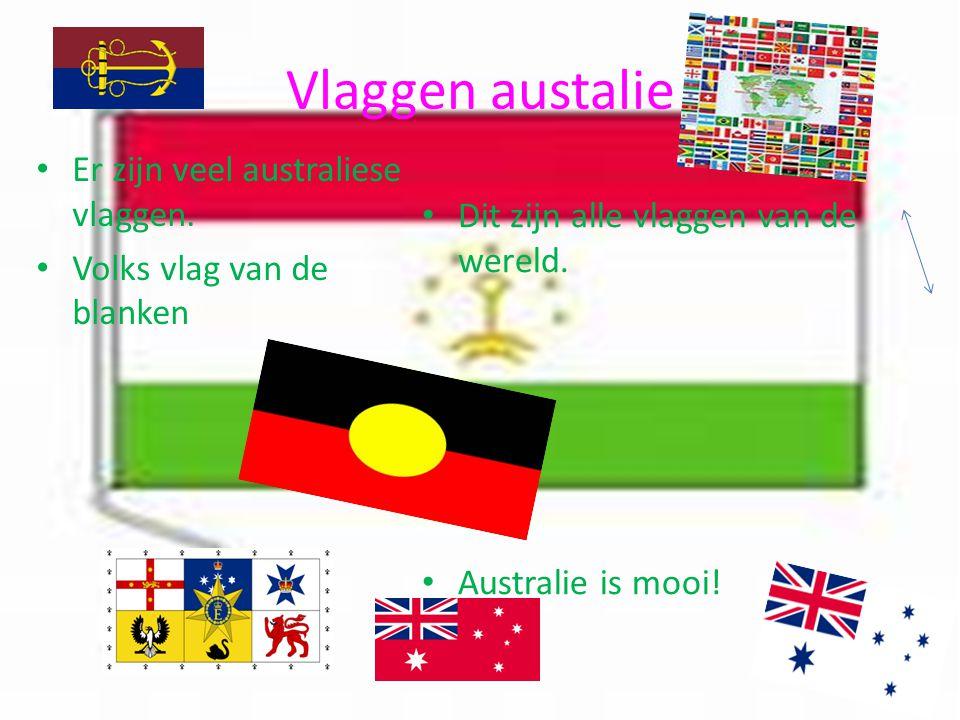 Vlaggen austalie Er zijn veel australiese vlaggen. Volks vlag van de blanken Dit zijn alle vlaggen van de wereld. Australie is mooi!