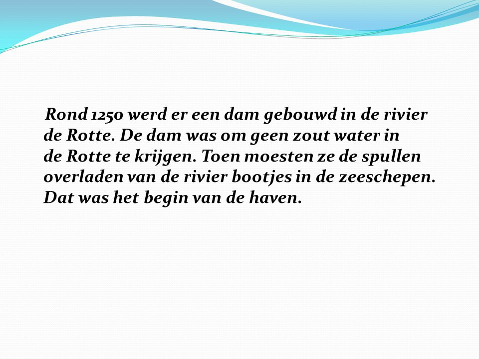 Hoe groot is de haven?