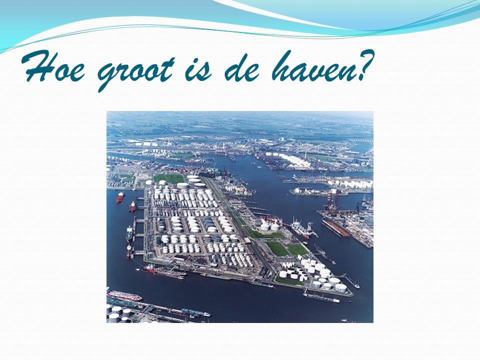 Hoe groot is de haven?