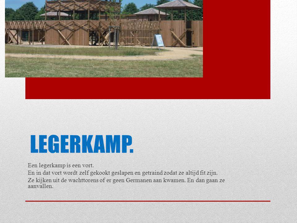 LEGERKAMP. Een legerkamp is een vort. En in dat vort wordt zelf gekookt geslapen en getraind zodat ze altijd fit zijn. Ze kijken uit de wachttorens of