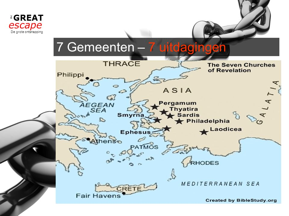 the GREAT escape De grote ontsnapping 7 Gemeenten – 7 uitdagingen