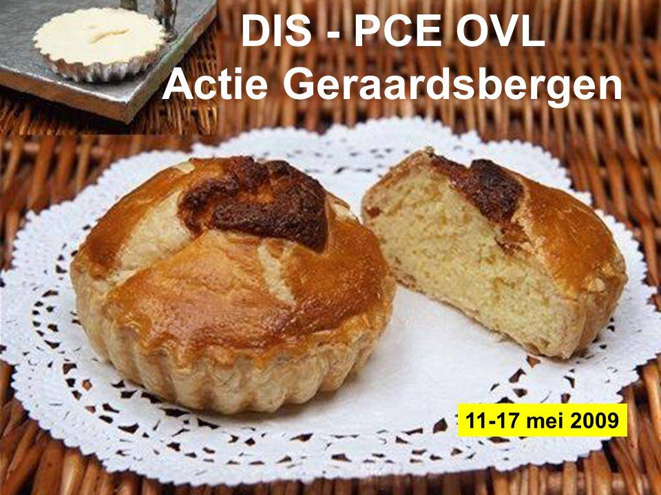 Federaal Agentschap voor de Veiligheid van de Voedselketen DIS - PCE OVL Actie Geraardsbergen 11-17 mei 2009