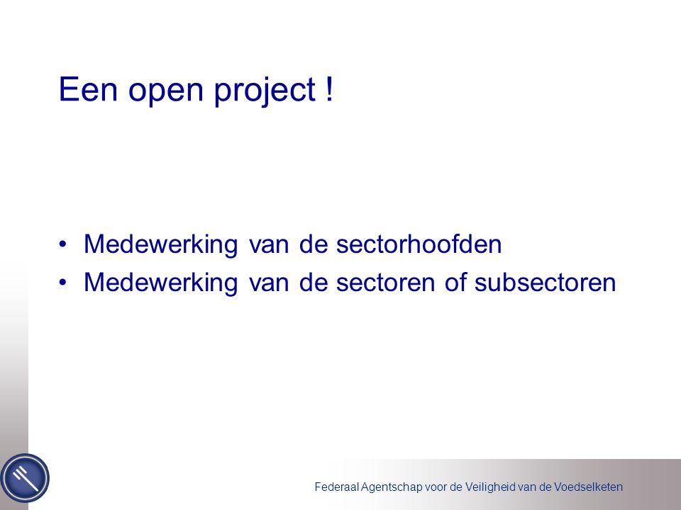Federaal Agentschap voor de Veiligheid van de Voedselketen Een open project .