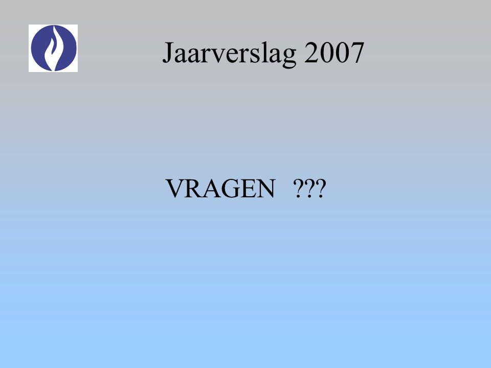 Jaarverslag 2007 VRAGEN ???