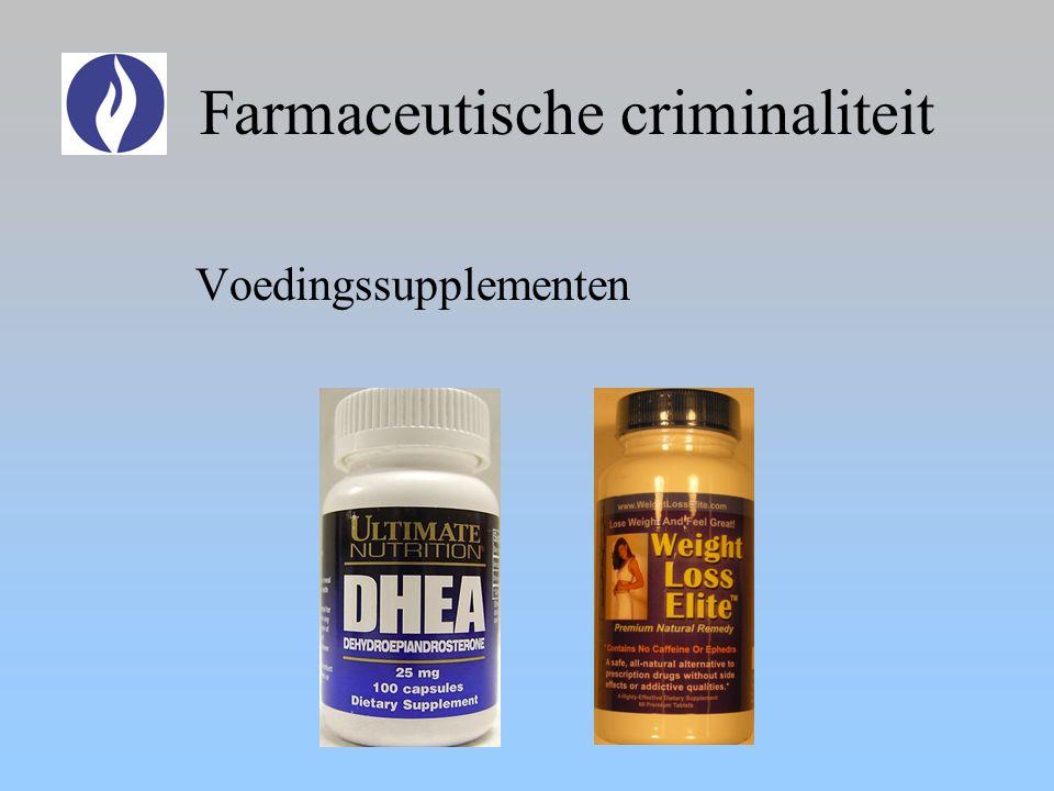 Farmaceutische criminaliteit Voedingssupplementen