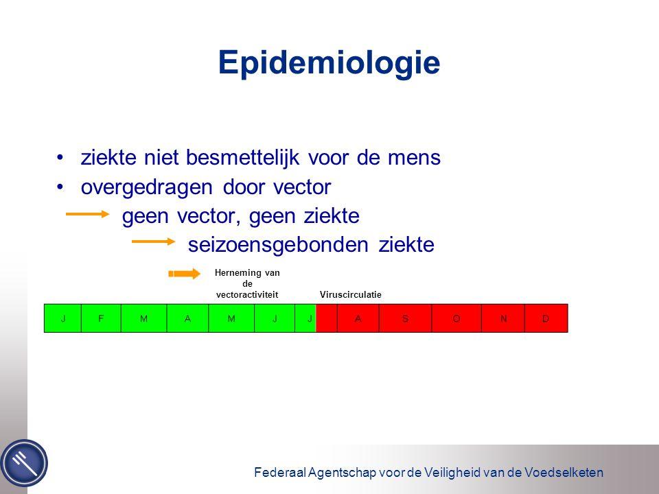 Federaal Agentschap voor de Veiligheid van de Voedselketen Epidemiologie ziekte niet besmettelijk voor de mens overgedragen door vector geen vector, g
