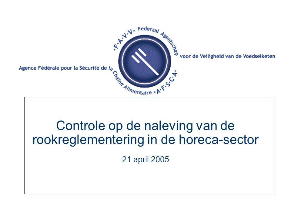 Controle op de naleving van de rookreglementering in de horeca-sector 21 april 2005