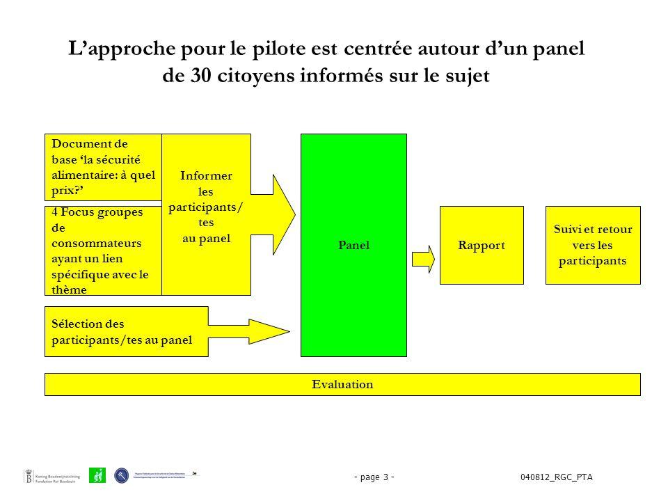 040812_RGC_PTA- page 3 - Document de base 'la sécurité alimentaire: à quel prix?' 4 Focus groupes de consommateurs ayant un lien spécifique avec le th