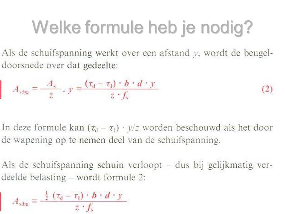 Welke formule heb je nodig?