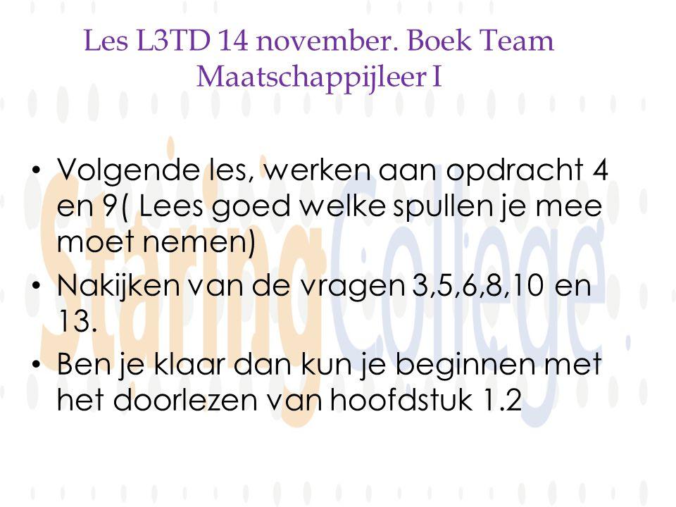 Les L3TD 14 november.
