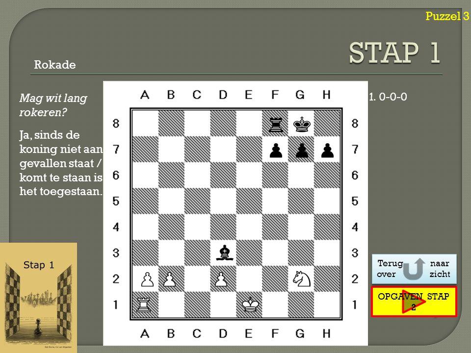 Puzzel 4 Klik ! Klik ! Volgende 1.Dd1-a4+ Pb8-c6 2.Da4xg4 Dubbele aanval Dame [ Koning + Hout ]