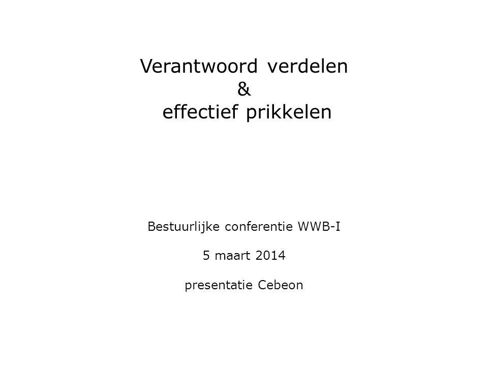 Verantwoord verdelen & effectief prikkelen Bestuurlijke conferentie WWB-I 5 maart 2014 presentatie Cebeon
