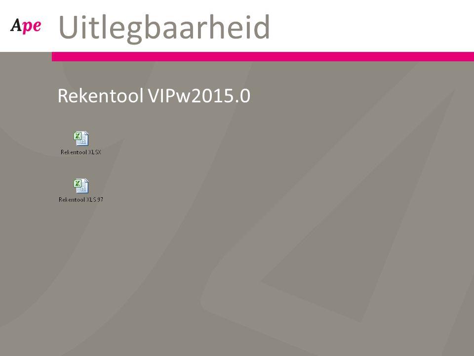 Uitlegbaarheid Rekentool VIPw2015.0