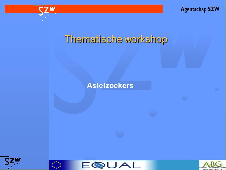 Thematische workshop Thematische workshop Asielzoekers