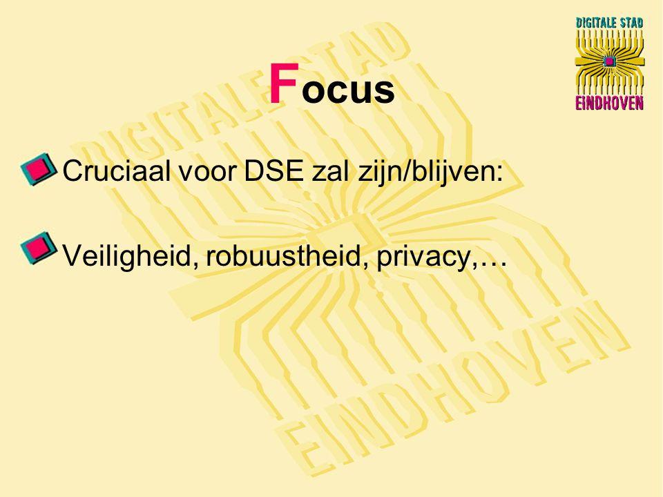 F ocus Cruciaal voor DSE zal zijn/blijven: Veiligheid, robuustheid, privacy,…