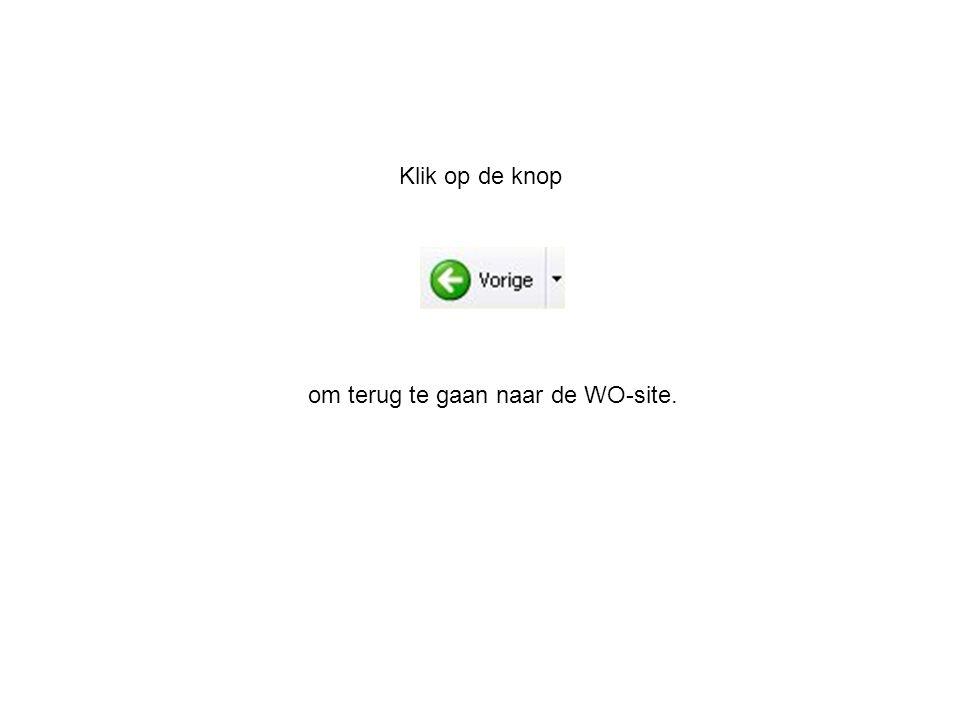 Klik op de knop om terug te gaan naar de WO-site.
