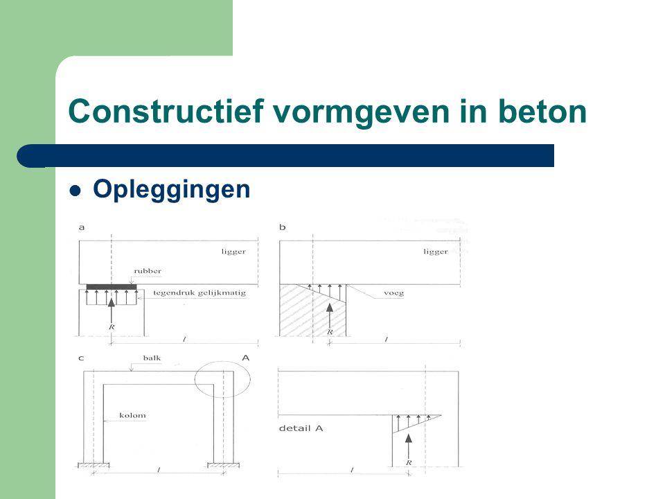 Constructief vormgeven in beton Opleggingen