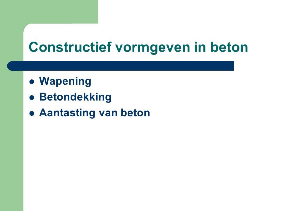 Wapening Betondekking Aantasting van beton
