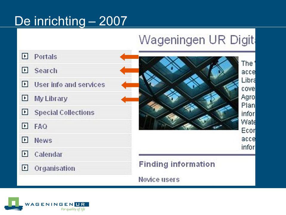 De inrichting – 2007