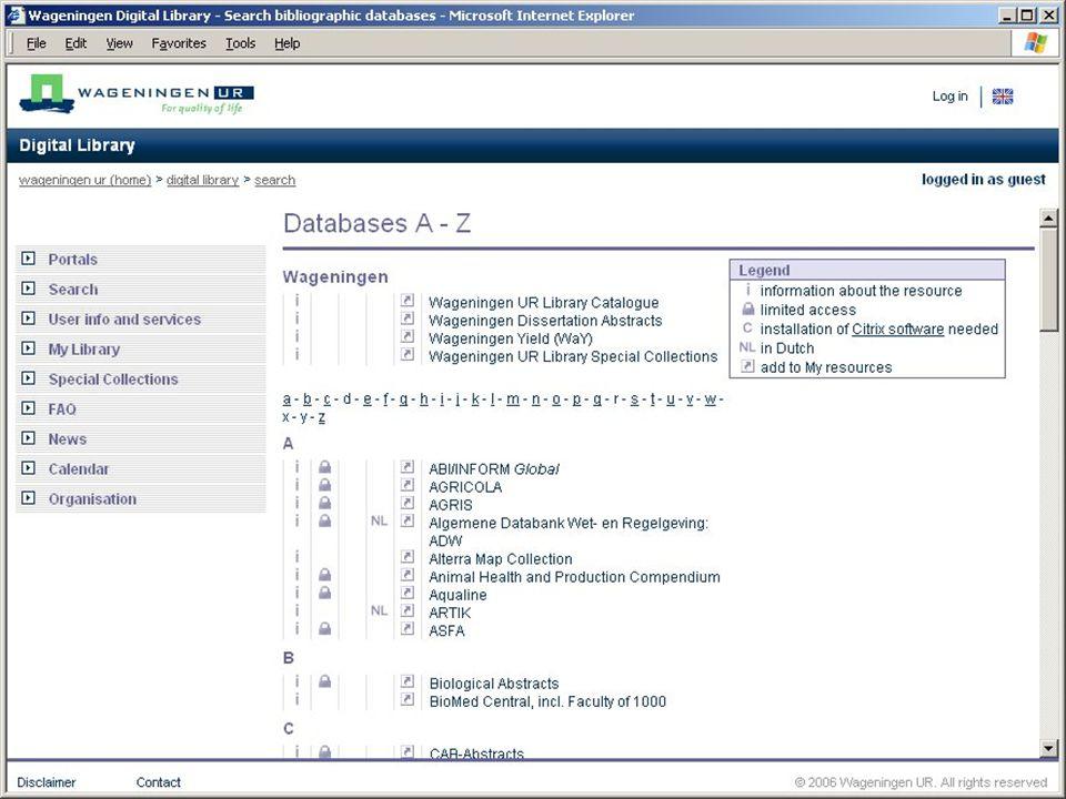 Search Snelle toegang naar bibliografieën Voor ervaren gebruikers