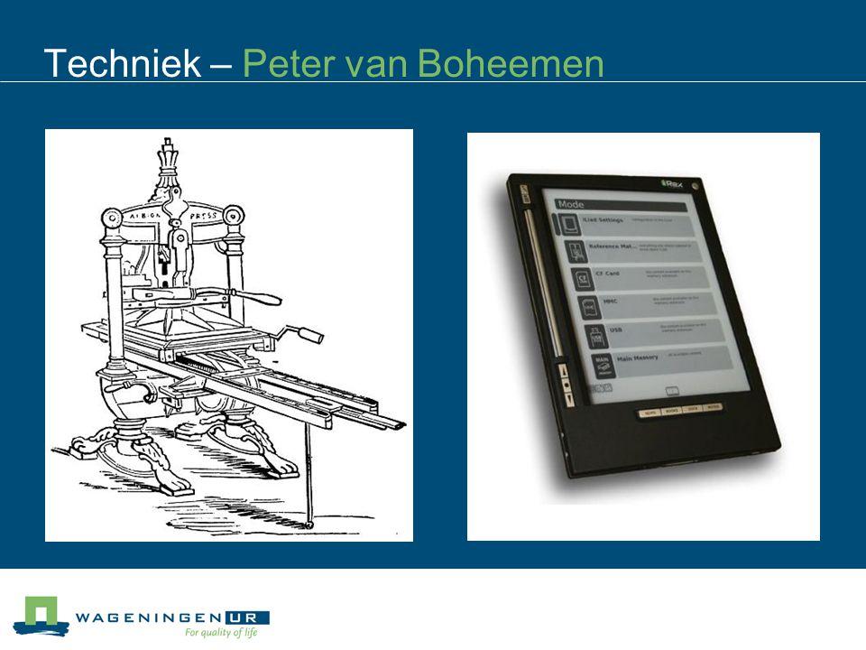 Techniek – Peter van Boheemen