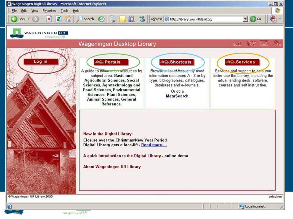2007 – Wageningen UR Digital Library Nieuwe huisstijl Wageningen UR Meer dynamische pagina's (nieuws, agenda)